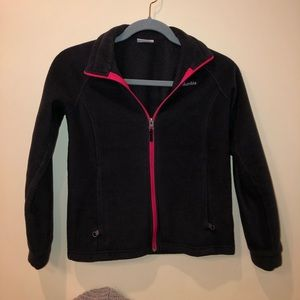 Columbia black with pink zipper jacket size M